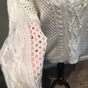 Apt. 9 Sweaters - Apt 9 Sexy see though cable white knit small GUC